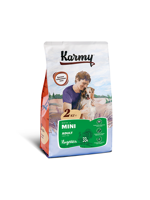Karmy Dog MINI Корм для собак мелких пород Индейка 2кг